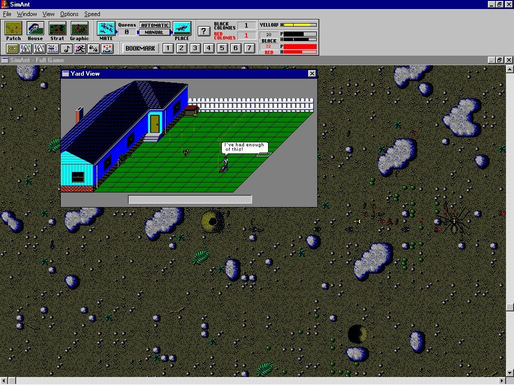 SimAnt: The Electronic Ant Colony Windows 3.x Beware of the lawn mower