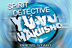 Yu Yu Hakusho: Ghost Files - Spirit Detective Game Boy Advance Title Screen