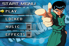 Yu Yu Hakusho: Ghost Files - Spirit Detective Game Boy Advance Main Menu
