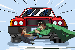 Yu Yu Hakusho: Ghost Files - Spirit Detective Game Boy Advance This is the only point in the hole game where a car actually hurts you.