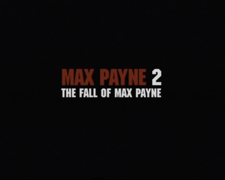 Max Payne 2: The Fall of Max Payne PlayStation 2 Main Title