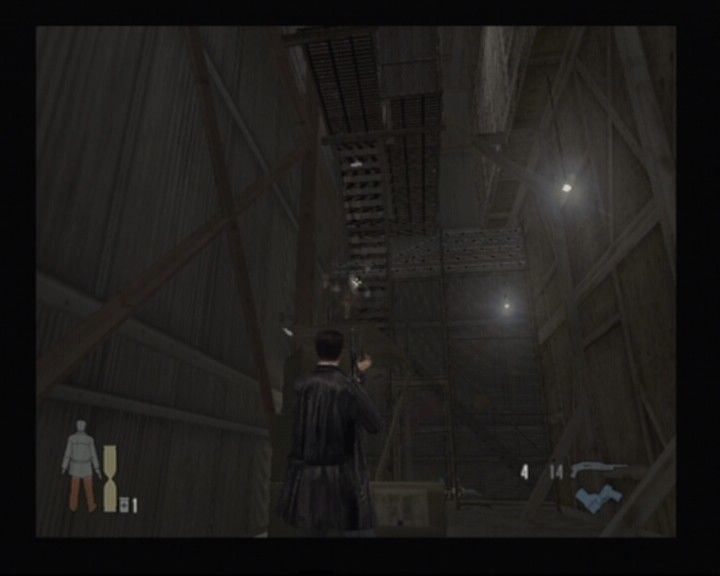Max Payne 2: The Fall of Max Payne PlayStation 2 Wooden stairs like these provide little to no protection against the shotgun