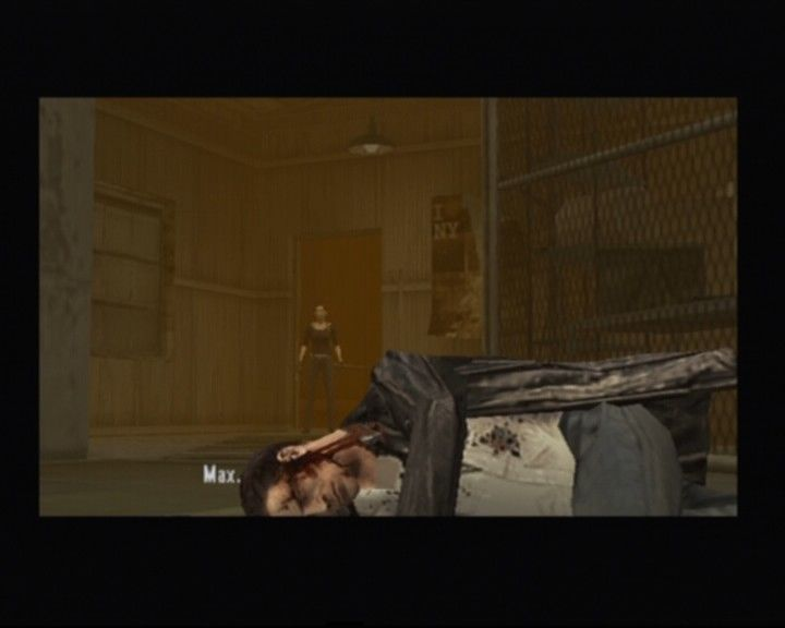 Max Payne 2: The Fall of Max Payne PlayStation 2 Mona coming up to the rescue in the nick of time