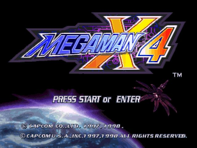 Mega Man X4 Windows Title Screen