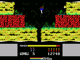 H.E.R.O. MSX Lava walls can sneak up on you if you land in the wrong location