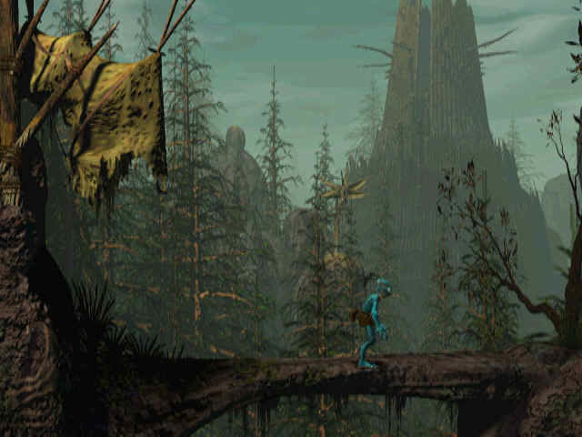 Oddworld: Abe's Oddysee Windows Nice woods - the game's very lengthy second part begins