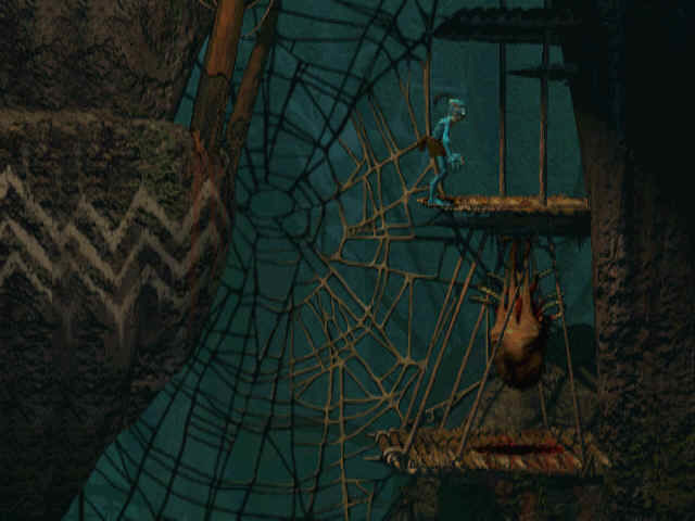 Oddworld: Abe's Oddysee Windows Who could have built these nets?..