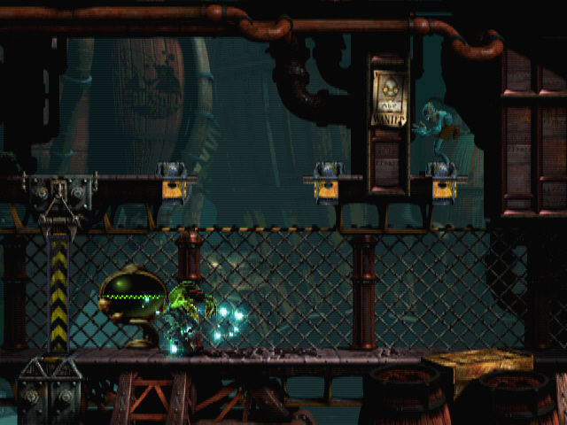 Oddworld: Abe's Exoddus Windows Taking over a Slig