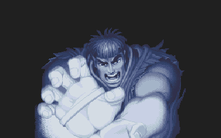 Super Street Fighter II DOS Ryu's intro animation