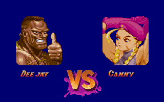 Super Street Fighter II DOS Deejay vs. Cammy