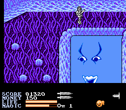 IronSword: Wizards & Warriors II NES One on one with the water elemental.