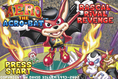 Aero the Acro-Bat Game Boy Advance Title screen
