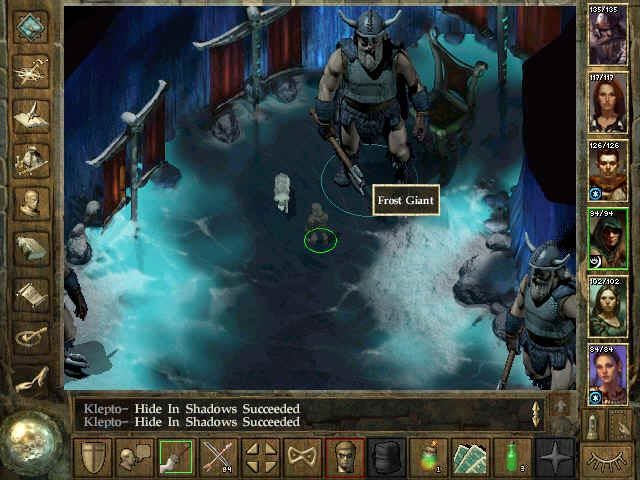 Icewind Dale Windows see me battle the frost giants