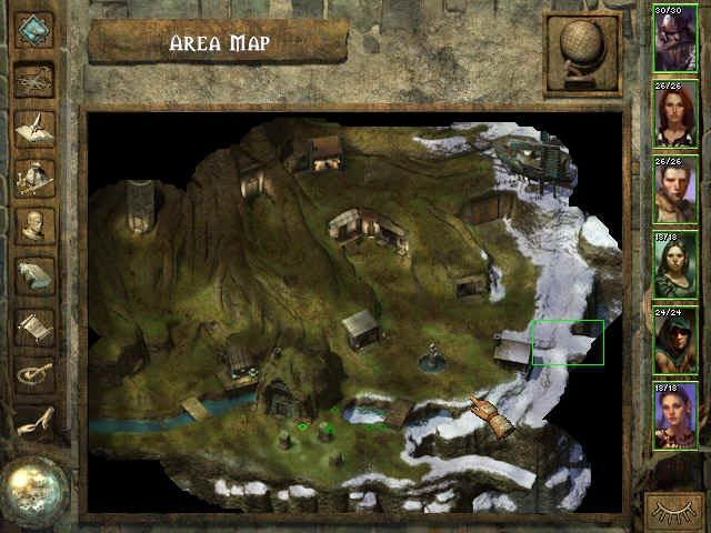 Icewind Dale Windows a map