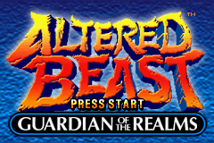 Altered Beast: Guardian of the Realms Game Boy Advance Title screen