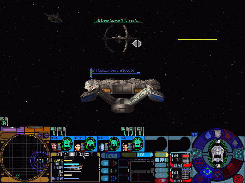 Star Trek: Deep Space Nine - Dominion Wars Windows A Steamrunner class starship approaches the famed Deep Space 9 station...