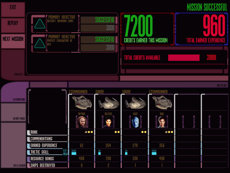Star Trek: Deep Space Nine - Dominion Wars Windows Victory for the Federation! Objectives completed and important statistics are shown here.