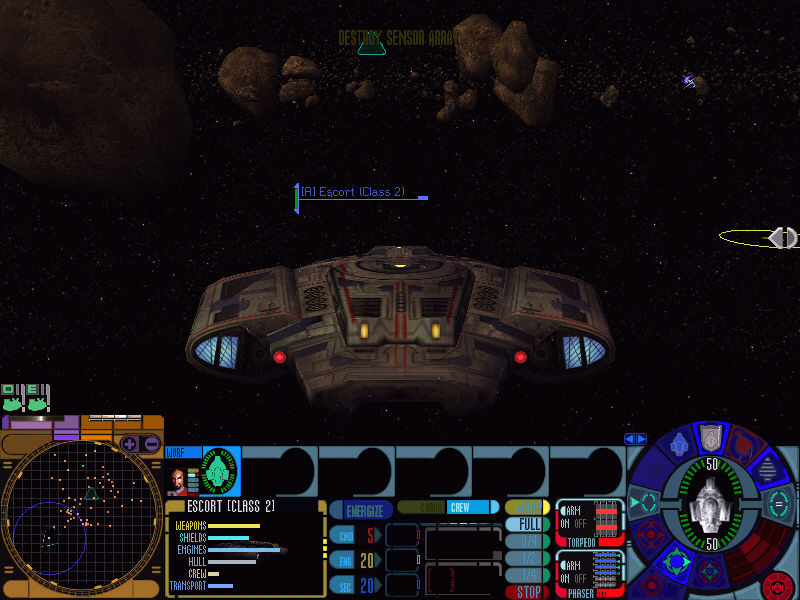 Star Trek: Deep Space Nine - Dominion Wars Windows The USS Defiant on a near suicide mission with Worf in command.