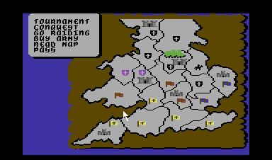 Defender of the Crown Commodore 64 The main map.