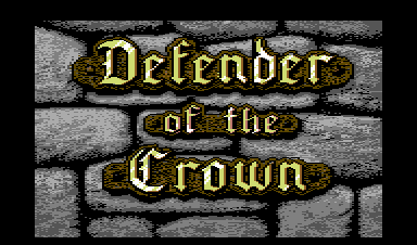 Defender of the Crown Commodore 64 The title screen