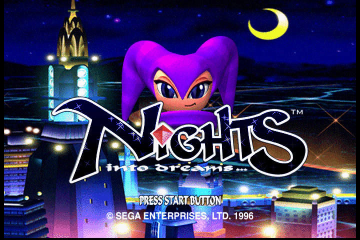 NiGHTS into Dreams... SEGA Saturn Main screen