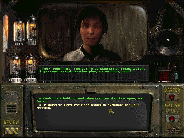 Fallout Windows Tandi, one of the game's many NPCs