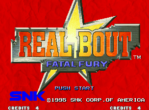 Real Bout Fatal Fury Neo Geo Title screen.
