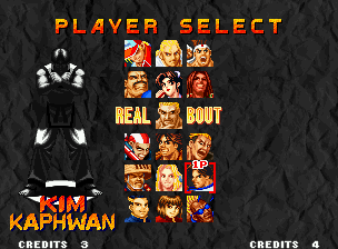 Real Bout Fatal Fury Neo Geo After watching the game tutorial, you'll be able to select a fighter.