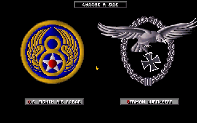Secret Weapons of the Luftwaffe DOS Choose your side: US or Germany