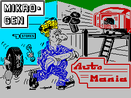 Automania ZX Spectrum Loading screen