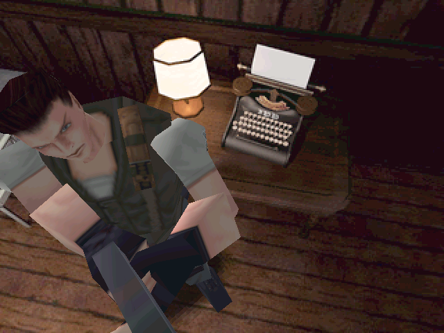 Resident Evil Windows Purpose of a typewriter is to save game