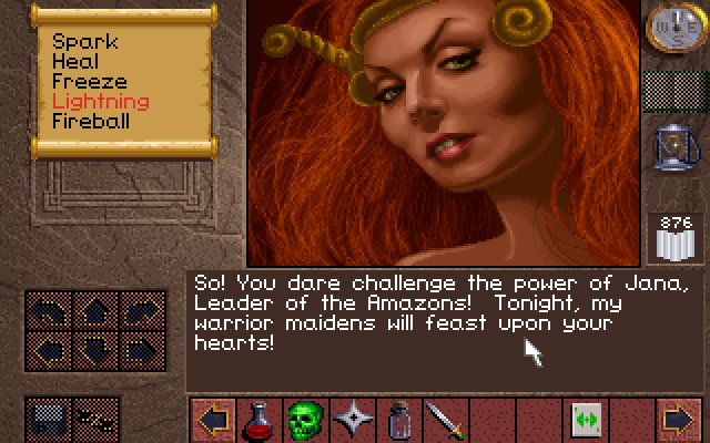Lands of Lore: The Throne of Chaos DOS Why is it the beautiful women always want to kill you?