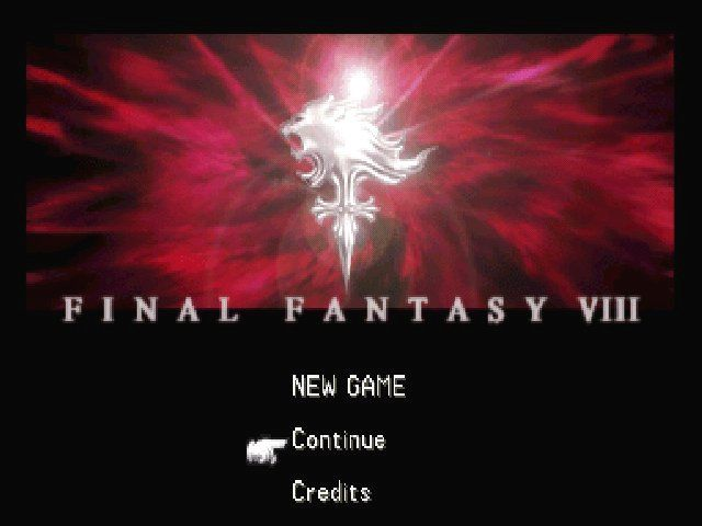 Final Fantasy VIII Windows Main menu