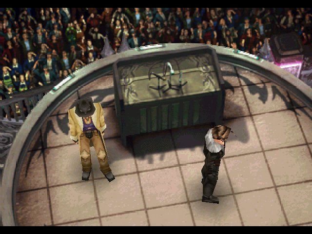 Final Fantasy VIII Windows The crowd below is more under sorceress' influence then their own will.