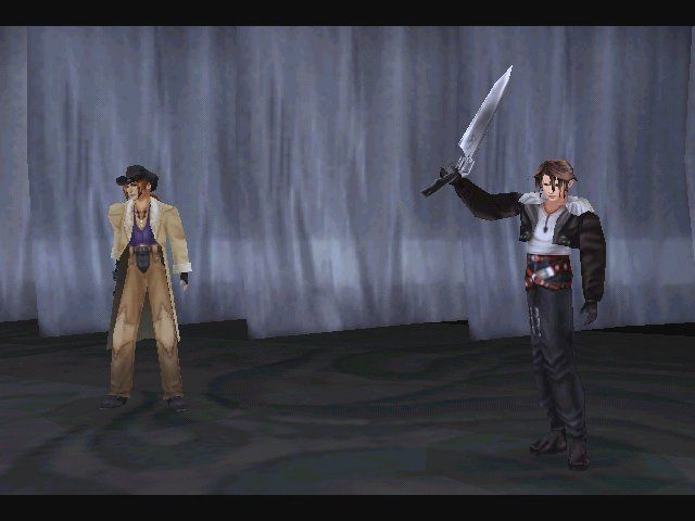 Final Fantasy VIII Windows Victorial salute to defeated (call it saving-your-skin happiness).