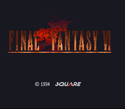 Final Fantasy III SNES Japanese title screen