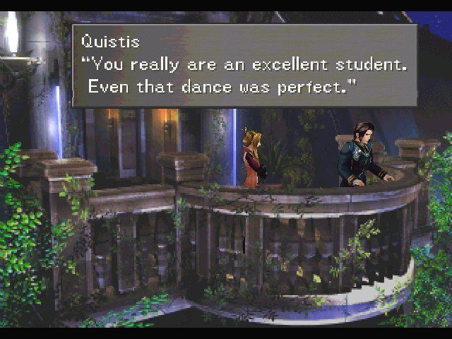 Final Fantasy VIII Windows Even your fighting teacher seems to be amazed by your other virtues.