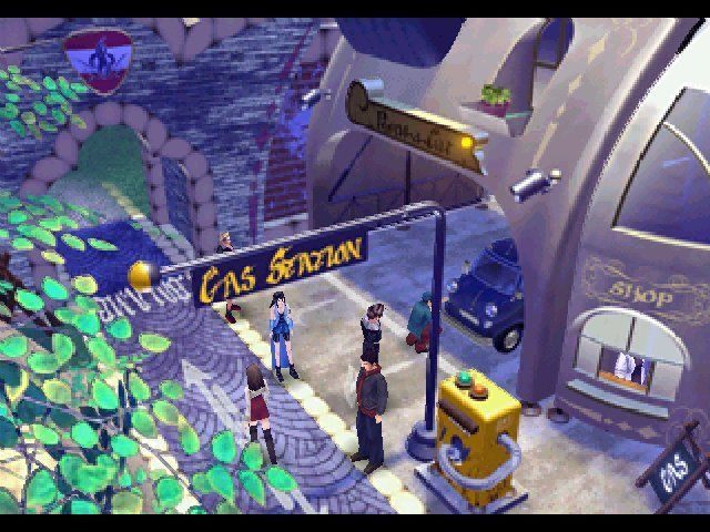 Final Fantasy VIII Windows The nearest town can always supply you with potions and informations.