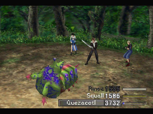 Final Fantasy VIII Windows Forest always seem to have enlarged bugs.