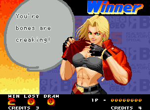 Real Bout Fatal Fury Special Neo Geo Victory screen.