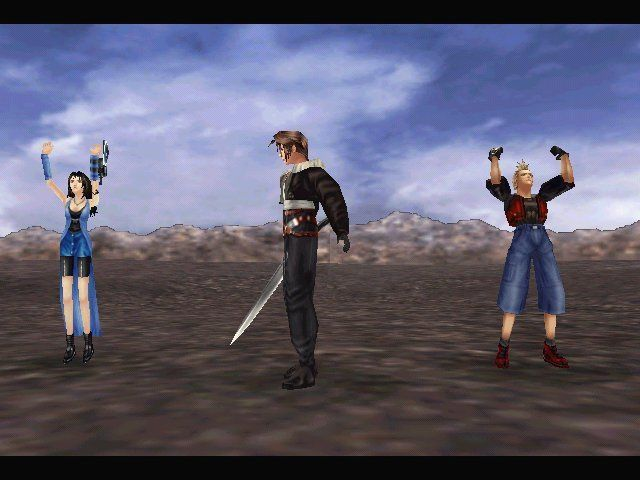 Final Fantasy VIII Windows Victory's the only way to survive (unless you flee).