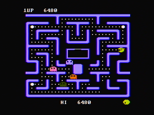 Ms. Pac-Man PC Booter The game features several different mazes (CGA with composite monitor)