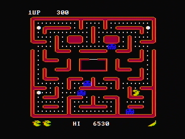 Ms. Pac-Man PC Booter You can chase the ghosts when they are blue (CGA with composite monitor)