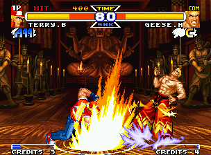Real Bout Fatal Fury Special Neo Geo Even with his big-surprising-increased powers, Geese Howard was affected by Terry's Round Wave.