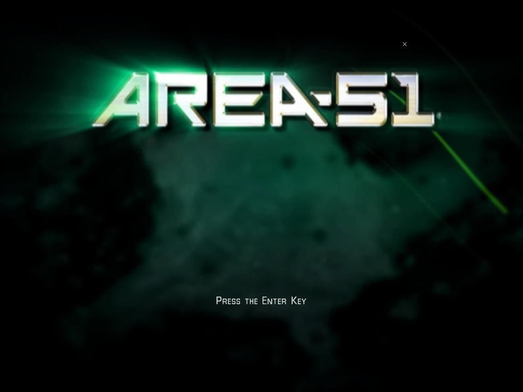Area-51 Windows Title screen