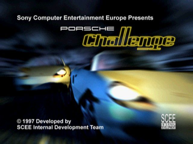 Porsche Challenge PlayStation Title screen