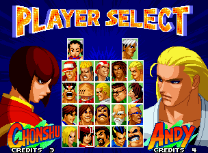 Real Bout Fatal Fury 2: The Newcomers Neo Geo Choosing a Fatal Fury fighter (the new artworks looks good).