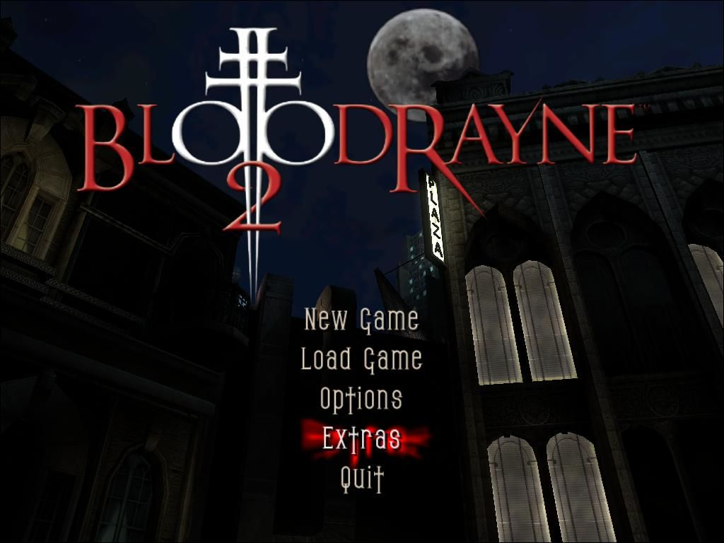 BloodRayne 2 Windows Main Menu