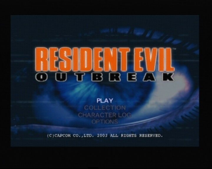 Resident Evil: Outbreak PlayStation 2 Main Title/Main Menu