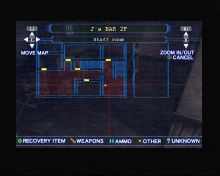 Resident Evil: Outbreak PlayStation 2 Checking out the map